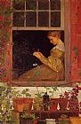 Winslow Homer Morning Glories painting