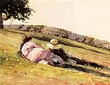 Winslow Homer On the Hill painting