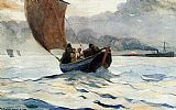 Winslow Homer Returning Fishing Boats painting