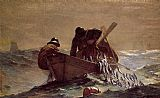 Hunting paintings - The Herring Net by Winslow Homer