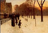 childe hassam Boston Common at Twilight painting