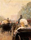 childe hassam Carriage Parade painting