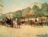 childe hassam Grand Prix Day painting
