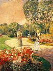 childe hassam Parc Monceau, Paris painting