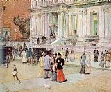 childe hassam The Manhattan Club painting