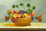 Still Life paintings - The Fruit Basket by flower