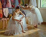 Ballet paintings - Morning sunshine by Guan zeju