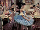 Ballet paintings - Preparing I by Guan zeju