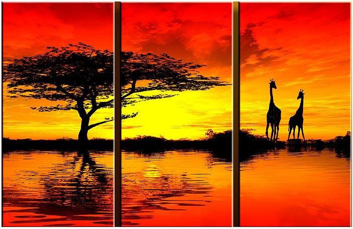 Best Sunset Drawings Landscape African Sunset ii