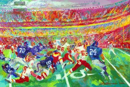 Leroy Neiman Washington Redskins in Fedexfield