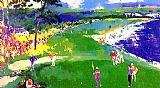 Leroy Neiman 18th at Pebble Beach painting