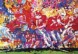 Leroy Neiman Alabama Hand Off painting