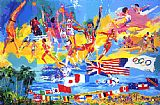 Leroy Neiman American Gold painting
