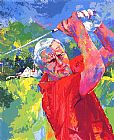 Leroy Neiman Arnold Palmer at Latrobe painting