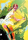 Leroy Neiman Backhand Chris Evert painting