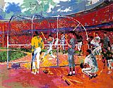 Leroy Neiman Bay Area Baseball painting