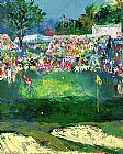 Leroy Neiman Bethpage Black Course 2002 u.s. Open painting