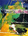 Leroy Neiman Blood Tennis painting