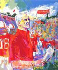 Leroy Neiman Coach Bill Walsh painting