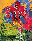 Leroy Neiman End Around Larry Brown painting