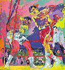 Leroy Neiman Frazier Foreman Jamaica painting
