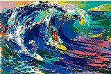 Leroy Neiman Hawaiian Surfers painting