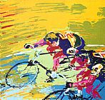 Leroy Neiman Indoor Cycling painting