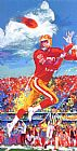 Leroy Neiman Jerry Rice painting