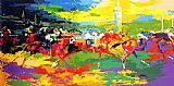 Leroy Neiman Kentucky Derby painting