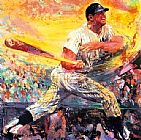 Sports paintings - Mickey Mantle by Leroy Neiman