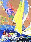 Leroy Neiman Normandy Sailing painting