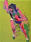 Sports paintings - Olympic Runner by Leroy Neiman