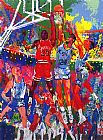 Leroy Neiman Orlando Magic painting
