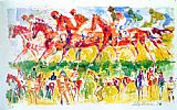 Leroy Neiman Racing painting