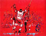 Leroy Neiman Red Goal painting