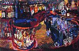 Leroy Neiman Rush Street Bar painting