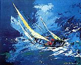 Sports paintings - Sailing by Leroy Neiman
