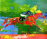 Leroy Neiman Secretariat Big Red painting
