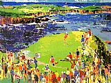 Leroy Neiman The 16th at Cypress painting