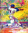 Leroy Neiman Willie Mays painting