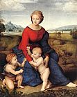 Raphael Madonna of Belvedere painting