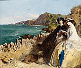 Abraham Solomon By the Seaside painting