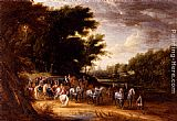 Adam Frans Van Der Meulen Louis XIV In A State Coach Accompanied By His Gentlemen painting