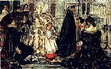 Albert B. Wenzell A Medieval Christmas--The Procession painting