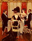 Albert B. Wenzell Idle Conversation painting