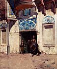 Alberto Pasini The Palace Guard painting