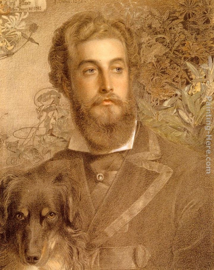 Anthony Frederick Sandys Portrait Of Cyril Flower, Lord Battersea