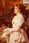 Anthony Frederick Sandys Portrait Of Julia Smith Caldwell painting