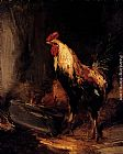 Antoine Vollon In The Roost painting