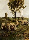 Anton Mauve Watching The Flock painting